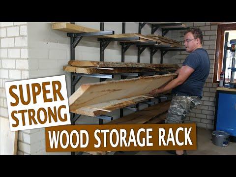 Super strong lumber storage rack made of steel - DIY