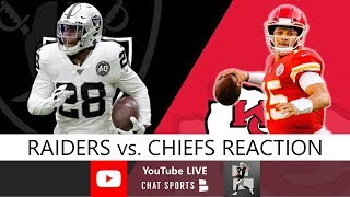Raiders vs. Chiefs LIVE Reaction To Oakland's 40-9 Loss In NFL Week 13
