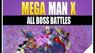 megaman x boss rush   boss weakness all theme intro music