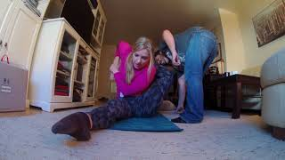 Left leg Buddhasana whit @poletergeist and she goes more deeper!