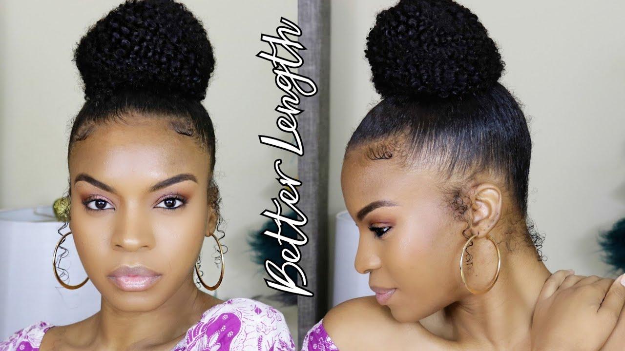 Better Length Afro Kinky Curly Drawstring Ponytail Textured Bun