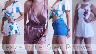 SEXY TRY ON HAUL | SheIn - Romwe | SHOW & TELL ASMR ITA - SUMMER OUTFIT VESTITI INDOSSATI||