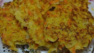 Оригинальные картофельно-морковные драники (деруны) ♥ Очень вкусно ♥ Potato pancakes