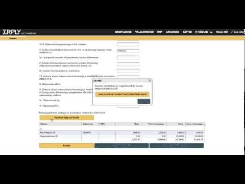KMD Lisa ERPLY raamatupidamine abil