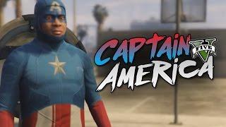 GTA 5 Mod - CAPTAIN AMERICA !! - Momen Lucu GTA