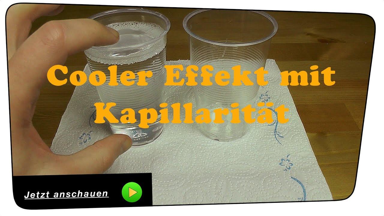 Der Kapillar Effekt - Experiment Tutorial - YouTube
