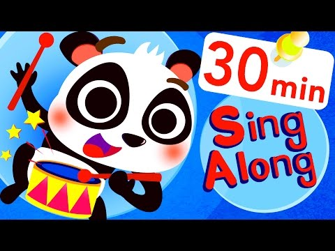 LEARN LYRICS: Flying Dinosaurs, Panda, Baby Shark! by Little Angel: Nursery Rhymes and Kid's Songs