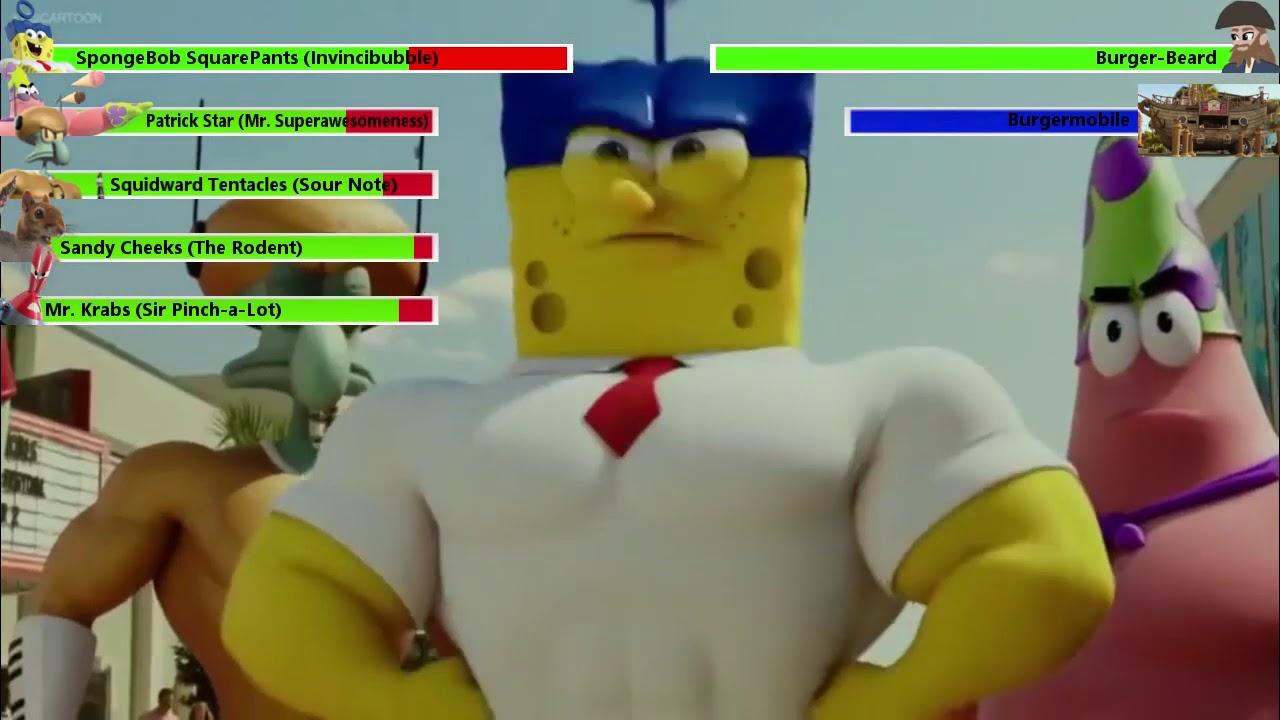 Download The SpongeBob Movie: Sponge Out of Water Final Battle with healthbars