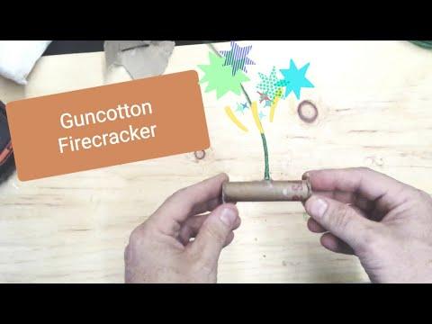 Gun Cotton Fire Cracker - Still Only Deflagration And Not Detonation