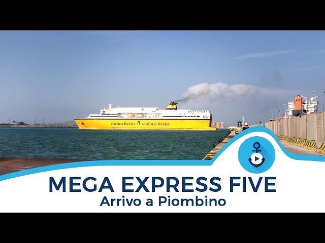 Mega Express Five, attracco a Piombino