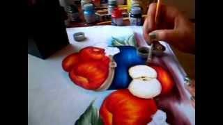 Como pintar uma maçã cortada – Simone Moraes