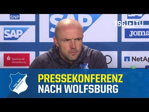 Die Pressekonferenz Nach Dem Bundesligaspiel Gegen Den VfL Wolfsburg