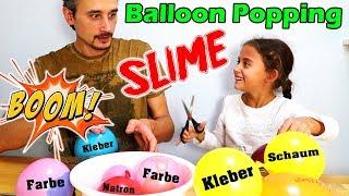 BALLOON POPPING SLIME - eine riesige Sauerei - Fluffi Schleim | Mileys Welt