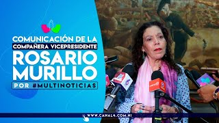 Comunicación con la Vicepresidenta Compañera Rosario Murillo, 4 de diciembre de 2019