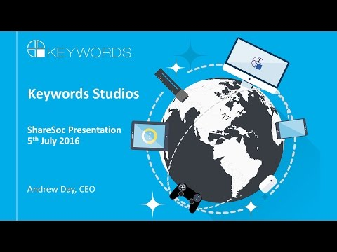 Keywords Studios (KWS) ShareSoc Richmond July 2016