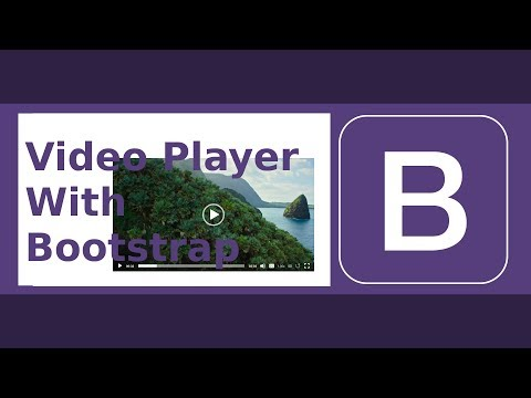Video Player With Bootstrap (Full Featured)