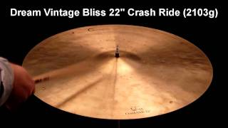 "Dream Vintage Bliss 22"" Sizzle Crash Ride (2103g)"