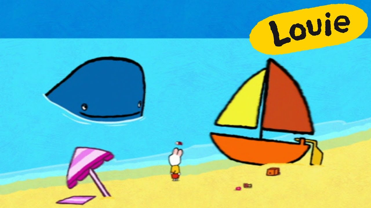 whale louie draw me a whale learn to draw cartoon for