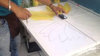 Girasoles pintura acrílica sunflower
