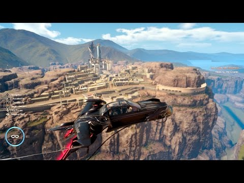 Final Fantasy XV Flying the F-TYPE Flying Car around the Whole Map