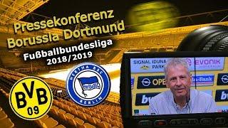 Borussia Dortmund - Hertha BSC: Pk mit Lucien Favre und Michael Zorc