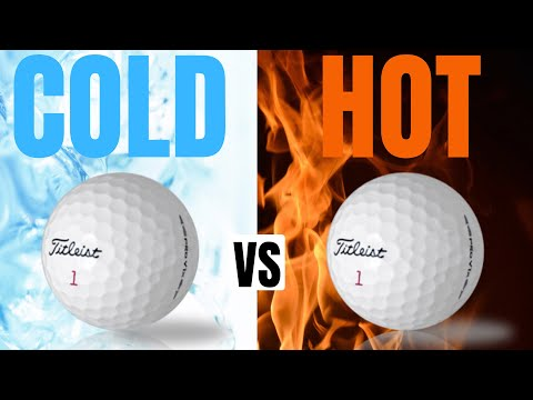Hot Balls Vs Cold Balls? - Golf Ball Temperature Test!