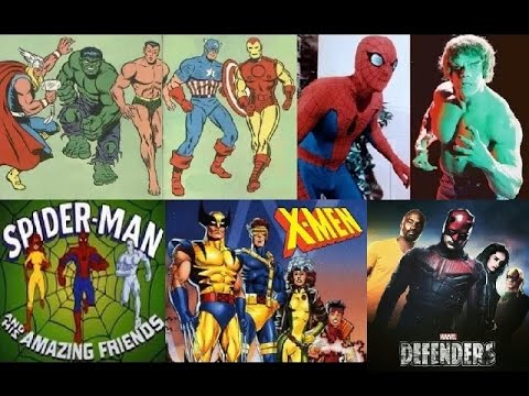 Intro to every Marvel Comics TV Series - Aberturas de todas séries de TV da Marvel Comics