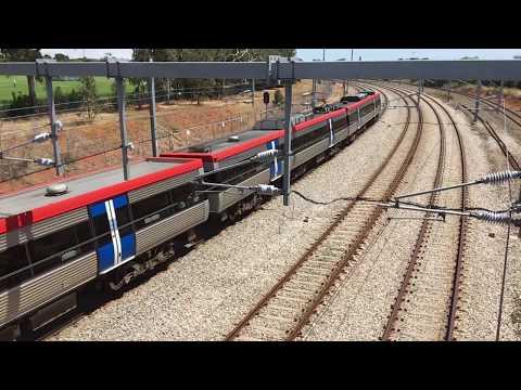 Adelaide Metro Electric Train At Port Road Bridge, South Australia