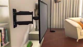 """Gambar cover NB P4– Girevole supporto da parete per TV da 32 """"-55"""""""