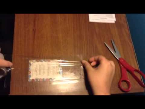 how to laminate a card youtube - How To Laminate Cards
