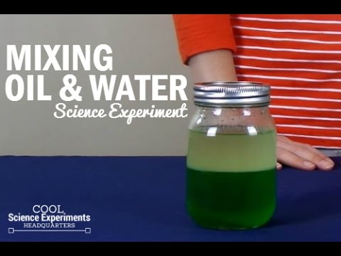 Mixing Oil & Water Science Experiment