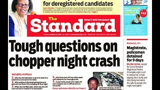 Tough questions on chopper night crash, why was it flying at night? | Press Review