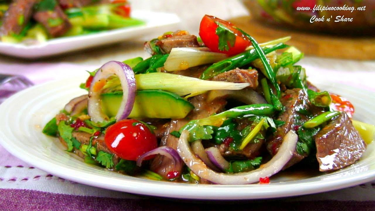 Beef salad thai style youtube forumfinder Image collections
