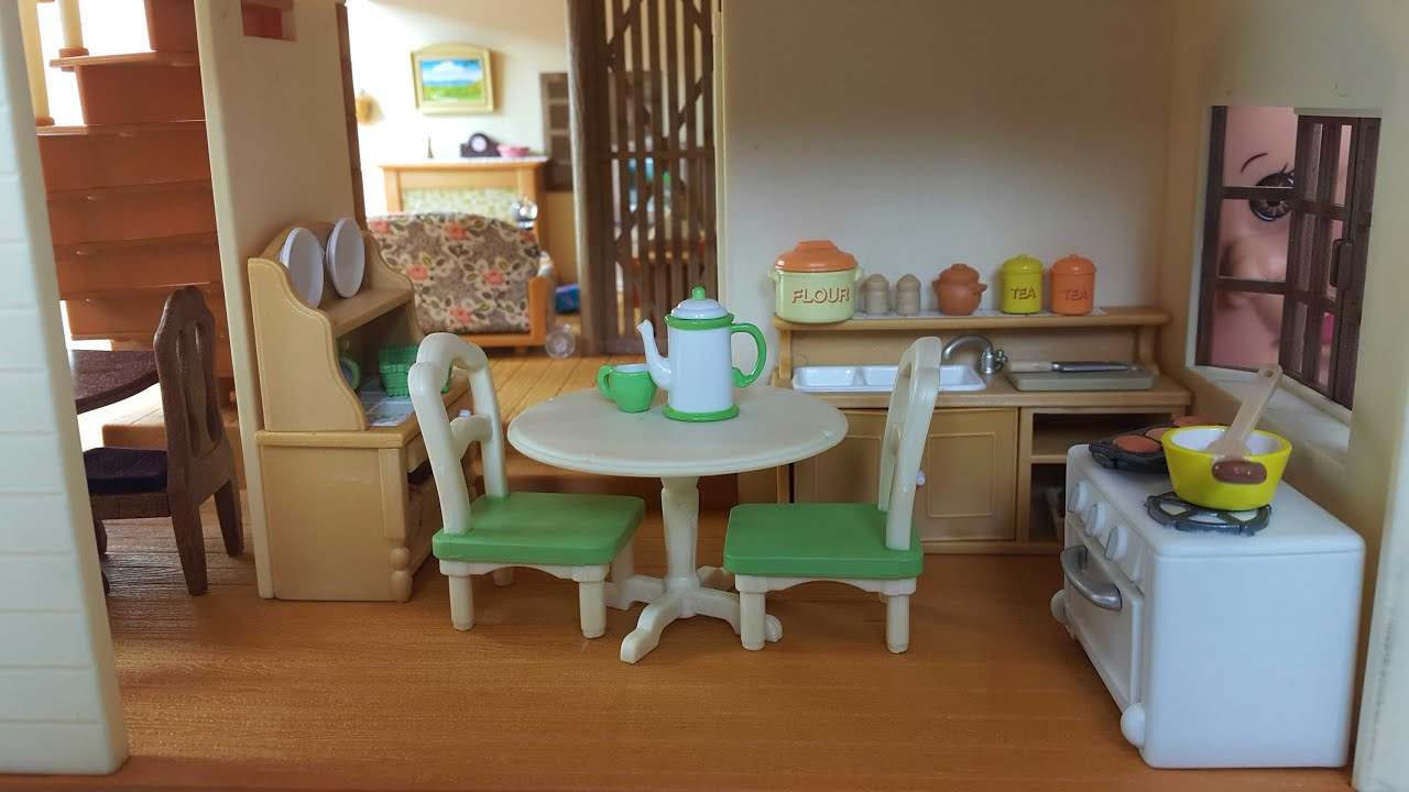 sylvanian families country kitchen country kitchen set sylvanian families calico critters 5965