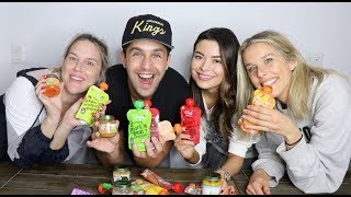 BABY FOOD MUKBANG ft MY WIFE AND MIRANDA COSGROVE!