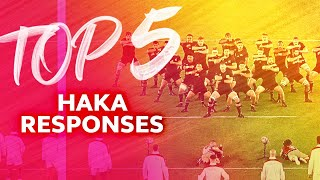 HAKA REACTIONS 😲 Top Five Response to the Haka in Rugby
