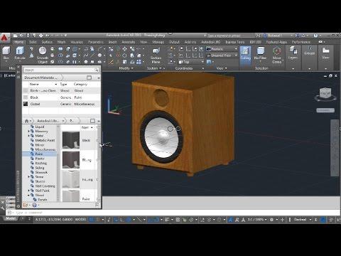 Autocad 3d Sound Speaker Modeling Youtube