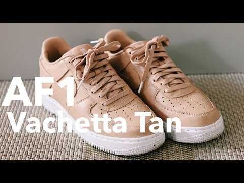 NIKE AF1 VACHETTA TAN UNBOXING REVIEW+ON FEET