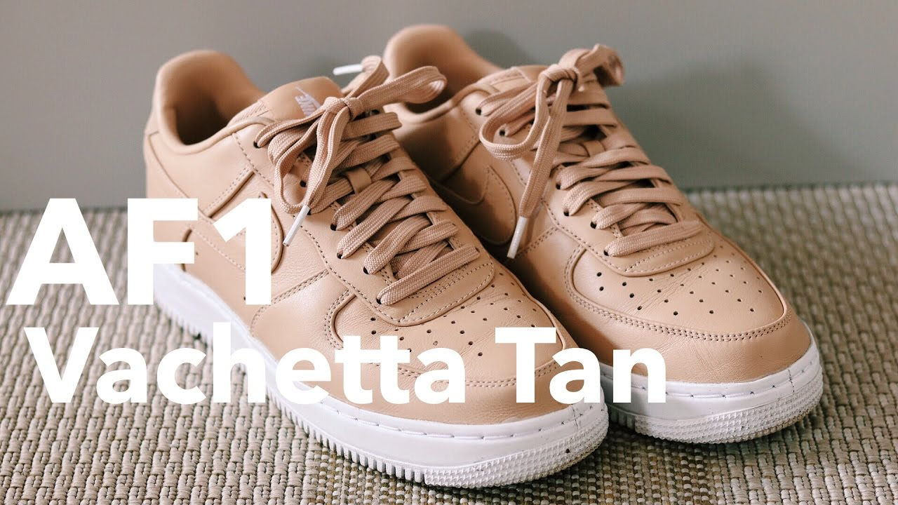 f8a3ca7f85f8 NIKE AF1 VACHETTA TAN UNBOXING REVIEW+ON FEET - YouTube