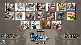 Repeat youtube video Ace Attorney Music Compilation: Pursuit [Version 3] 2016