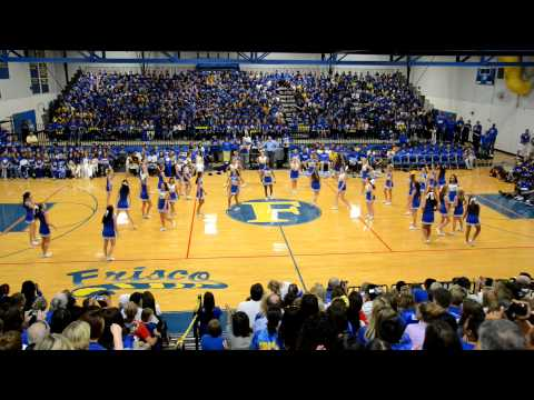 Frisco High School Cheerleaders 2012 Homecoming Pep Rally