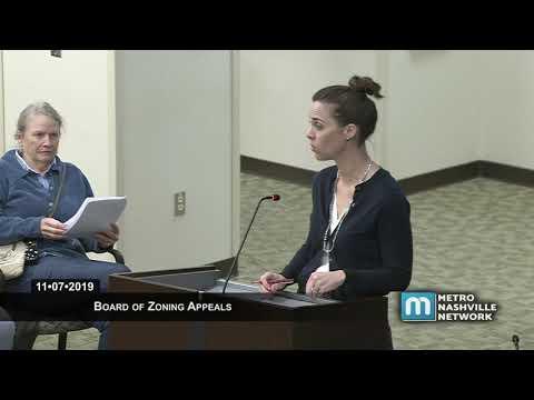 11/07/19 Board of Zoning Appeals