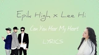 epik high ft lee hi can you hear my heart scarlet heartryeo ost part 6 hanromeng lyrics