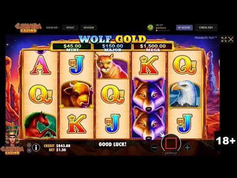Superb Final Spin In Wolf Gold Slot Machine - Cleopatra Casino