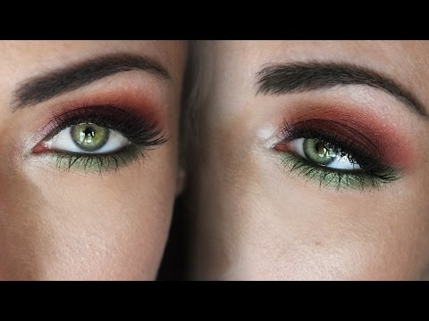 Makeup to make green eyes stand out