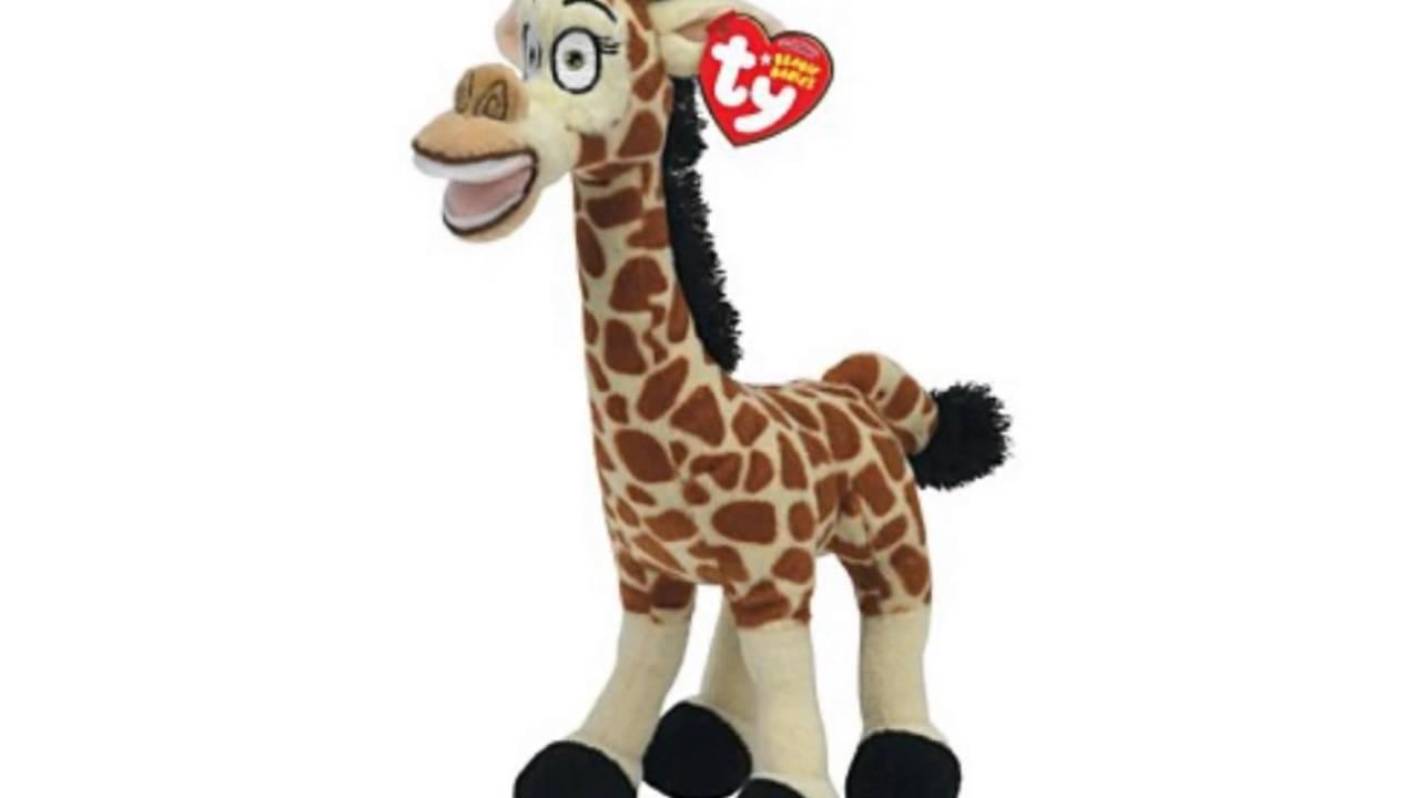 Ty beanie baby madagascar melman giraffe youtube - Girafe madagascar ...