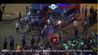 Miting 11 august. Proteste în Piața Victoriei imagini LIVE din Piața Victoriei: