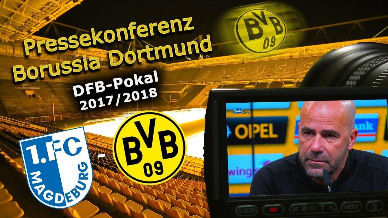 1. FC Magdeburg - Borussia Dortmund: Pk mit Peter Bosz