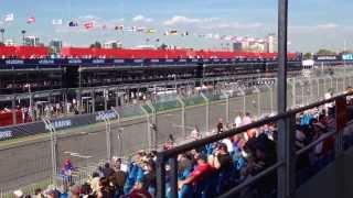 2014 Formula 1 Australian Grand Prix - Practice 2 - Pit Straight Sound