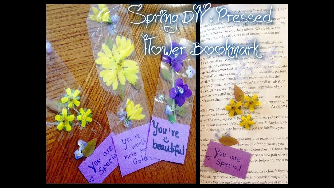 Spring DIY Pressed flower bookmark